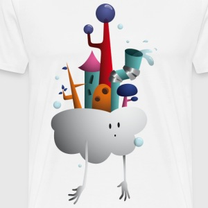 Cloud Village - Premium-T-shirt herr