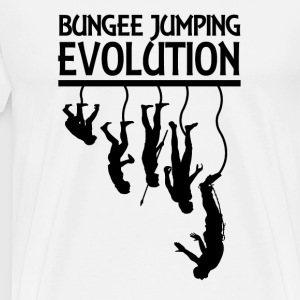Bungee Jumping Evolution - Premium T-skjorte for menn