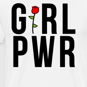 Girl Power GRL PWR Rose Gift - Herre premium T-shirt