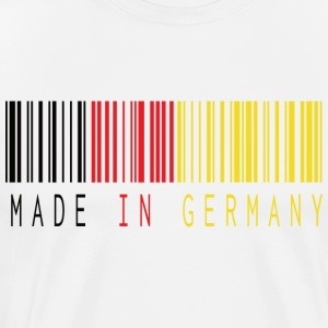 MADE IN DUITSLAND BARCODE - Mannen Premium T-shirt