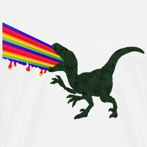 Rainbow dinosaur Dino color patches Raptor - Men's Premium T-Shirt