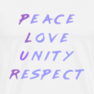 Peace Love Unity Respect P.L.U.R. blue purple - Men's Premium T-Shirt