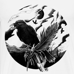 Crow and feather - Men's Premium T-Shirt