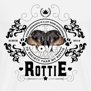 I love my Rottie (Black Edition) - T-shirt Premium Homme