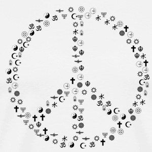 Peace among religions - Men's Premium T-Shirt