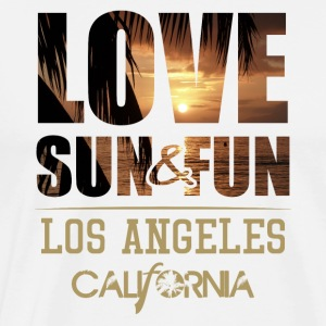 Love, Sun & Fun · Los Angeles · California - Männer Premium T-Shirt