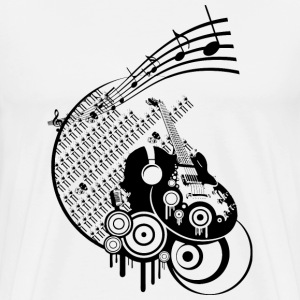 Ink dark Music - Mannen Premium T-shirt
