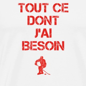 tout ce dont pre senter loisir hockey ice hockey i - Männer Premium T-Shirt