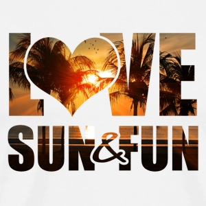 Love, Sun & Fun - Premium-T-shirt herr