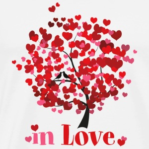 in Love Love Birds Valentine's Day Spring feelings - Men's Premium T-Shirt