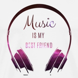 Music is my best friend - Männer Premium T-Shirt