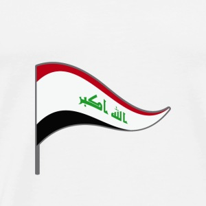Iraq Baghdad flag flag country colors flag - Men's Premium T-Shirt