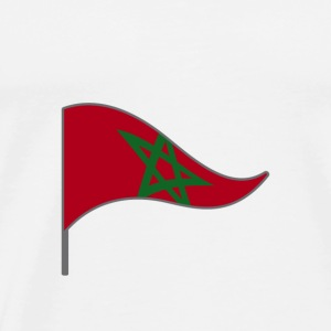 Morocco Africa Arabic flag national color flag - Men's Premium T-Shirt