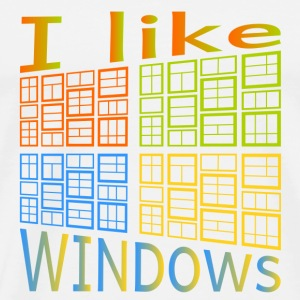 I like Windows - Männer Premium T-Shirt