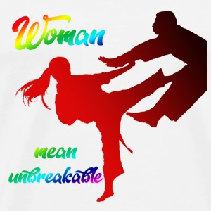 woman mean unbreakable - Maglietta Premium da uomo