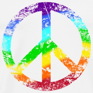 Peace Sign Rainbow Rainbow Peace Graffiti - Men's Premium T-Shirt