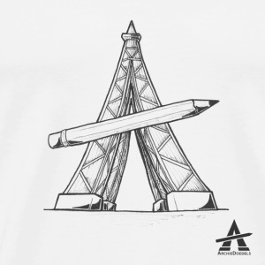 Eiffel Tower Pencil - Men's Premium T-Shirt