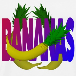 Bananas, banana and pineapple - Men's Premium T-Shirt