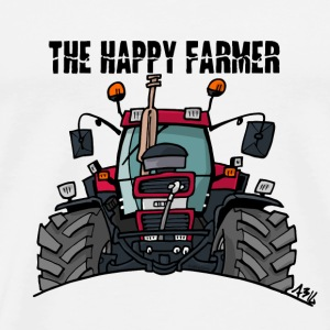 the happy farmer red - Mannen Premium T-shirt