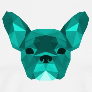 ciano Low Poly Frenchie - Maglietta Premium da uomo