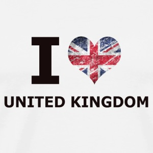 I LOVE UNITED KINGDOM FLAG - Men's Premium T-Shirt