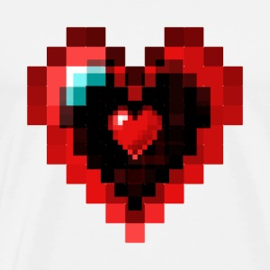 Graphic Pixel Heart - T-shirt Premium Homme