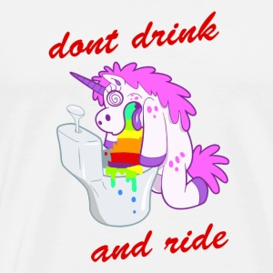 dont drink and ride unicorn - Männer Premium T-Shirt