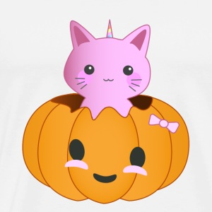 Pumpkin Kitty - Männer Premium T-Shirt