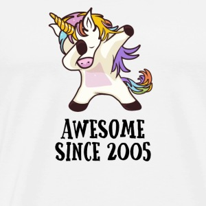 Awesome Since 2005 Dabbing Unicorn 12GB Gift - Men's Premium T-Shirt