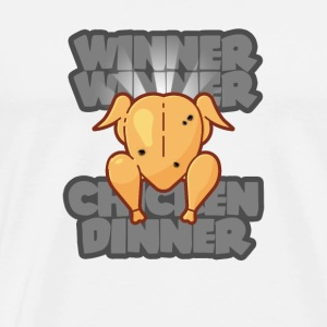 Winner Winner Chicken Dinner PUBG GAMING SCEN - Premium-T-shirt herr
