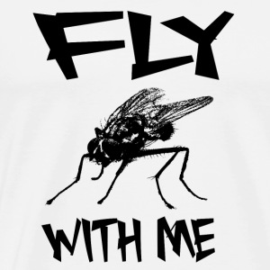 FLY WITH ME - Fly insekt ordspill gave - Premium T-skjorte for menn