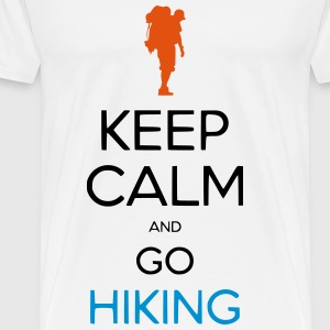 KEEP CALM AND GO HIKING - Men's Premium T-Shirt