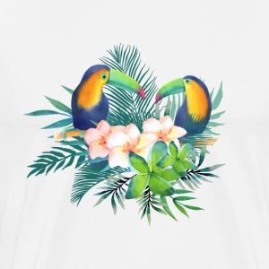 Toucan Tropical Floral - Premium T-skjorte for menn