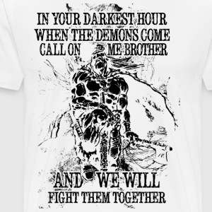 In your darkest hour call on me (dunkel) - Männer Premium T-Shirt