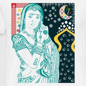 Hindu Woman - Premium T-skjorte for menn