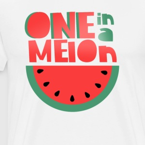 Melons Shirt - ONE IN A MELON Fruit Friends Shirt - Men's Premium T-Shirt