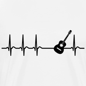 Heart beat guitar teacher player band gift - Men's Premium T-Shirt