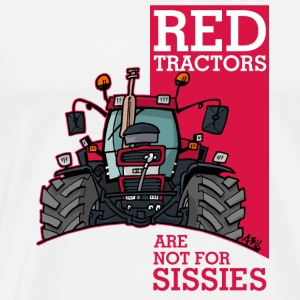 red tractors are not for sissies - Mannen Premium T-shirt
