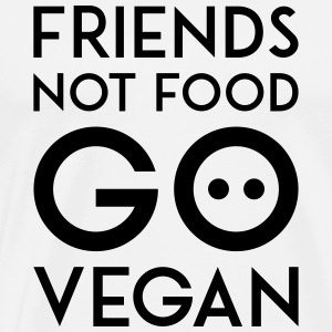 FRIENDS NOT FOOD GO VEGAN black - Männer Premium T-Shirt