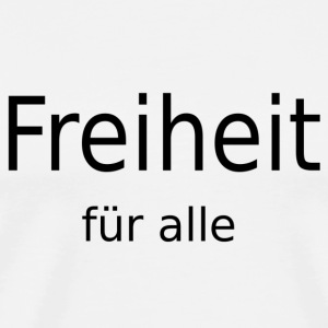 Frihed for alle - Herre premium T-shirt