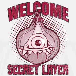 Distressed Onion Monster My Secret Layer  Onion - Männer Premium T-Shirt