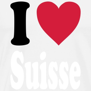 I love Suisse (colors selectable!) - Men's Premium T-Shirt