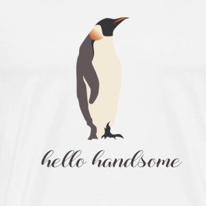 hello handsome - Männer Premium T-Shirt