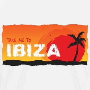 Take Me To Ibiza - Mannen Premium T-shirt