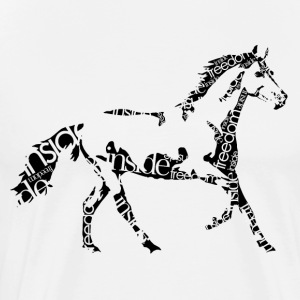Horse_freedominside - Men's Premium T-Shirt