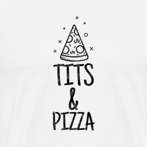 Tits and Pizza T-shirt - Men's Premium T-Shirt