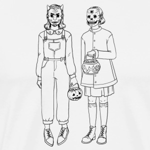 Trick or Treat - Outlines - Männer Premium T-Shirt