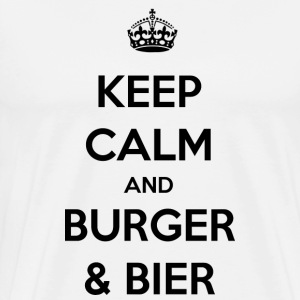 / / / / Regalo Burger Beer Party barbecue - Maglietta Premium da uomo