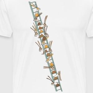 Rabbits on a ladder - Men's Premium T-Shirt