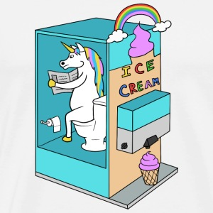 Unicorn funny sweet gift ice Christmas - Men's Premium T-Shirt
